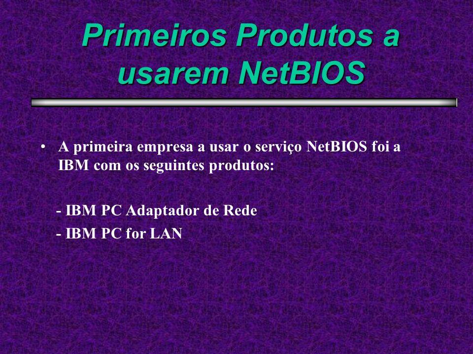 Primeiros Produtos a usarem NetBIOS