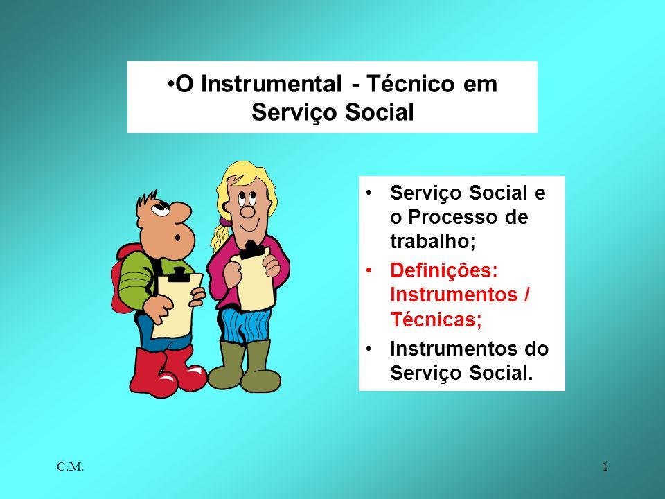 O Instrumental - Técnico em Serviço Social