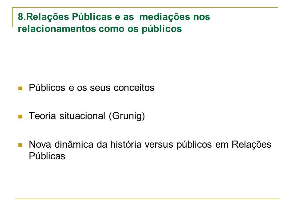 8.Relações Públicas e as mediações nos relacionamentos como os públicos