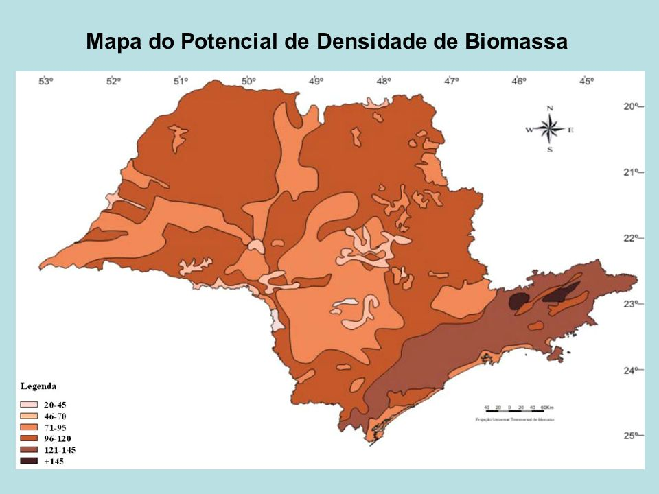 Mapa do Potencial de Densidade de Biomassa