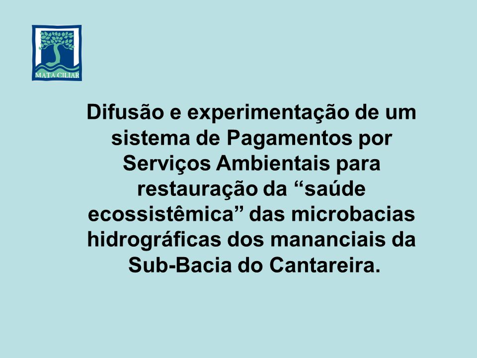 Sub-Bacia do Cantareira.