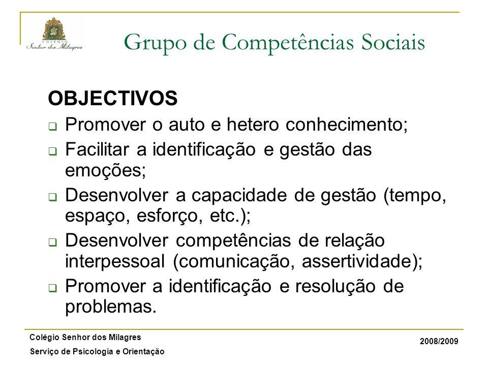 Grupo de Competências Sociais