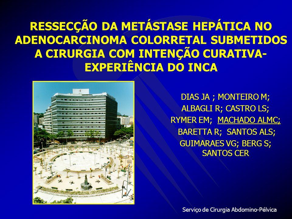 RESSECÇÃO DA METÁSTASE HEPÁTICA NO ADENOCARCINOMA COLORRETAL SUBMETIDOS A CIRURGIA COM INTENÇÃO CURATIVA- EXPERIÊNCIA DO INCA