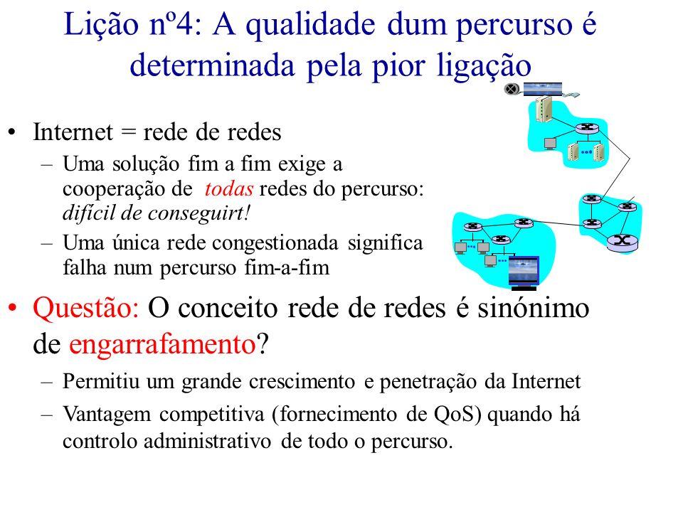 Lição nº4: A qualidade dum percurso é determinada pela pior ligação