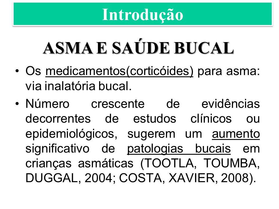 Introdução ASMA E SAÚDE BUCAL