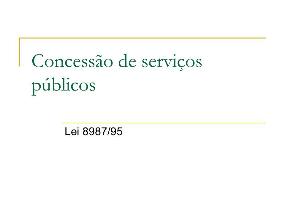 Concessão de serviços públicos