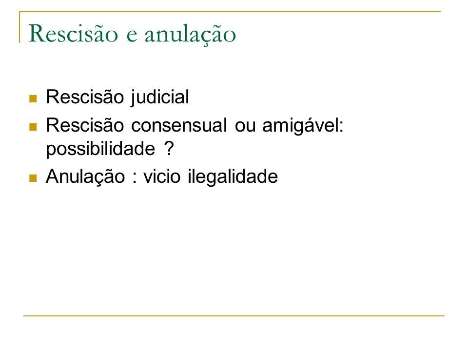 Rescisão e anulação Rescisão judicial