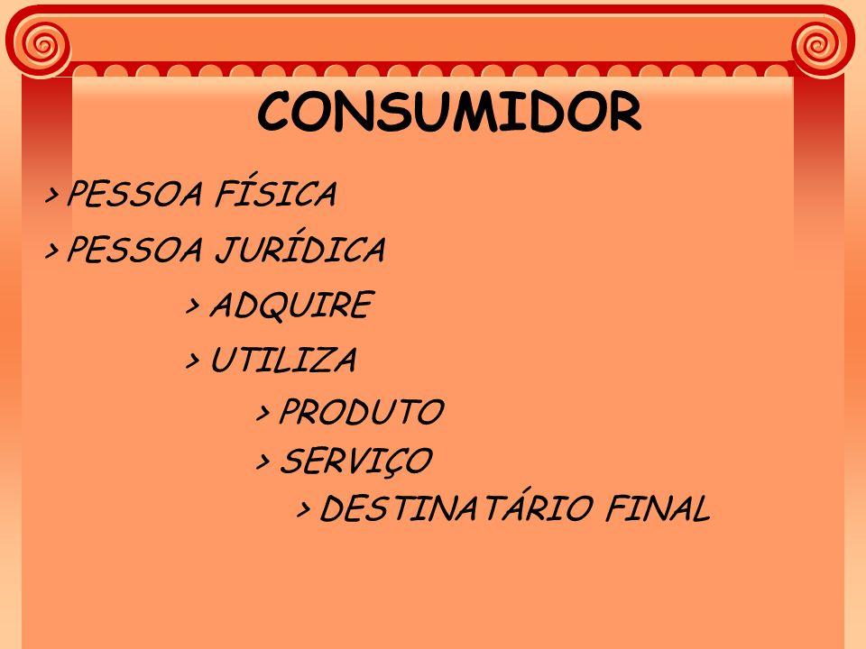 CONSUMIDOR > PESSOA FÍSICA > PESSOA JURÍDICA > ADQUIRE