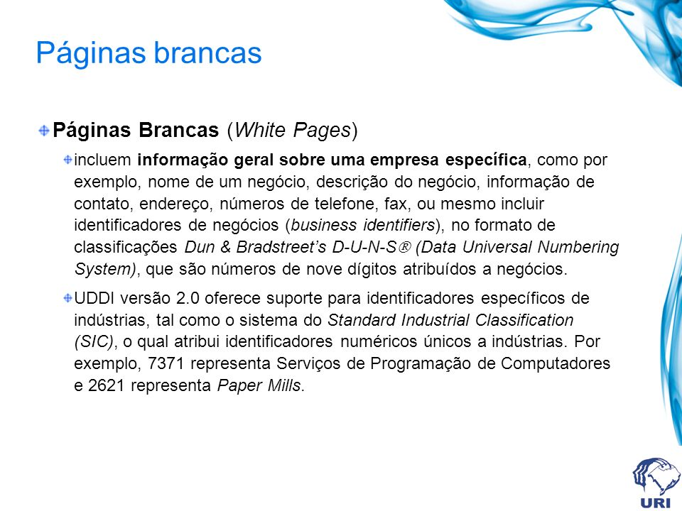 Páginas brancas Páginas Brancas (White Pages)