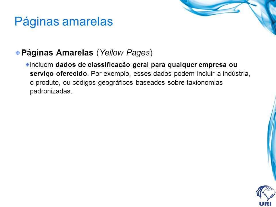 Páginas amarelas Páginas Amarelas (Yellow Pages)