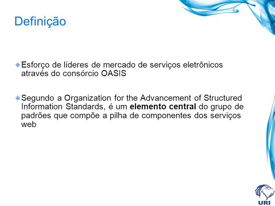 Definição Esforço de líderes de mercado de serviços eletrônicos através do consórcio OASIS.