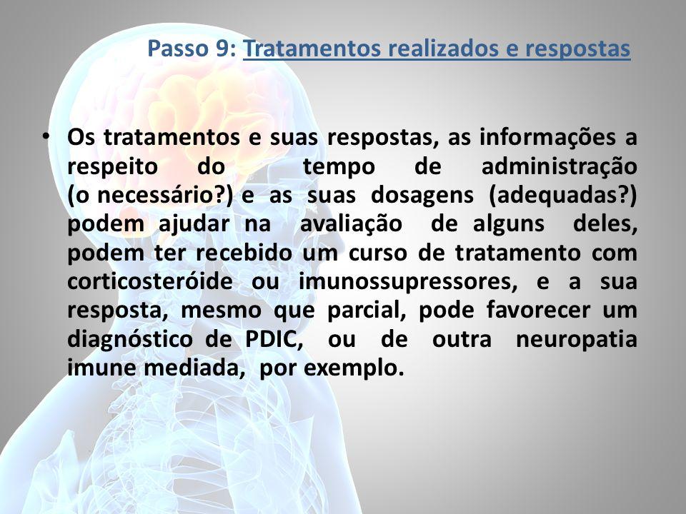 Passo 9: Tratamentos realizados e respostas