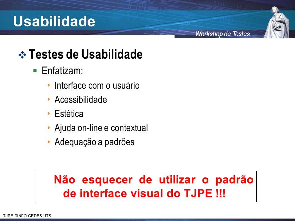 Usabilidade Testes de Usabilidade
