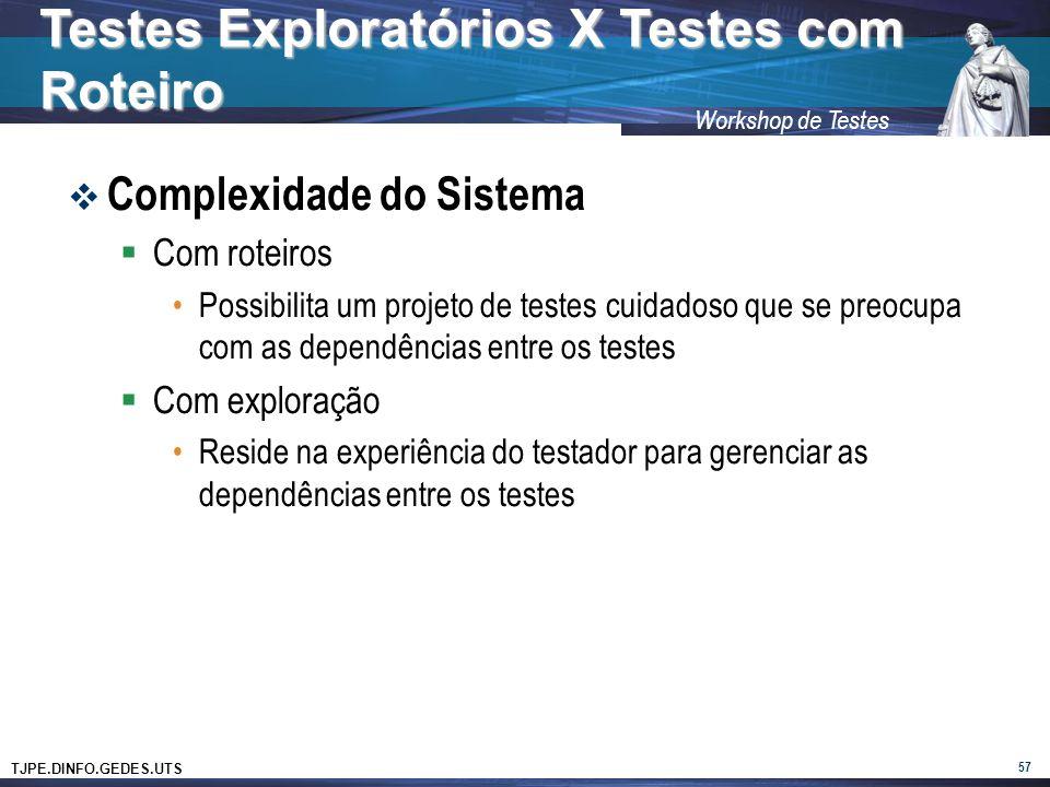 Testes Exploratórios X Testes com Roteiro