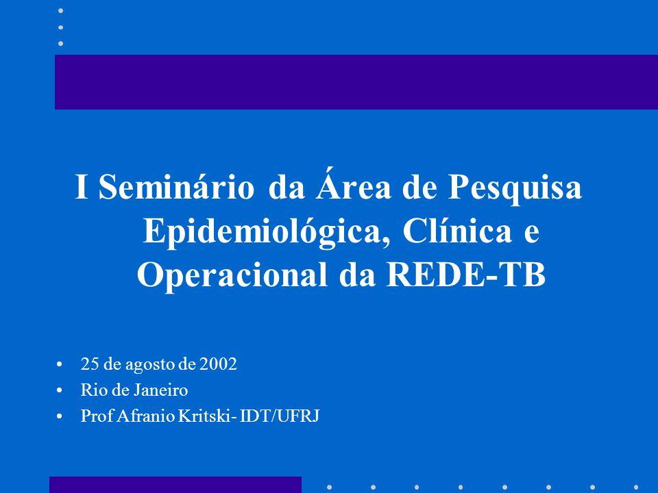 I Seminário da Área de Pesquisa Epidemiológica, Clínica e Operacional da REDE-TB
