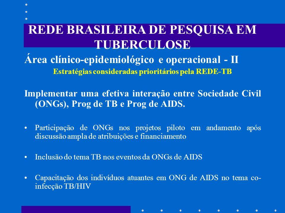 REDE BRASILEIRA DE PESQUISA EM TUBERCULOSE