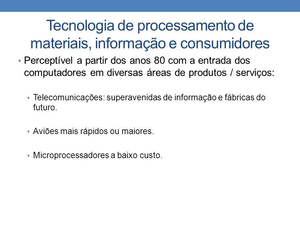 Tecnologia de processamento de materiais, informação e consumidores