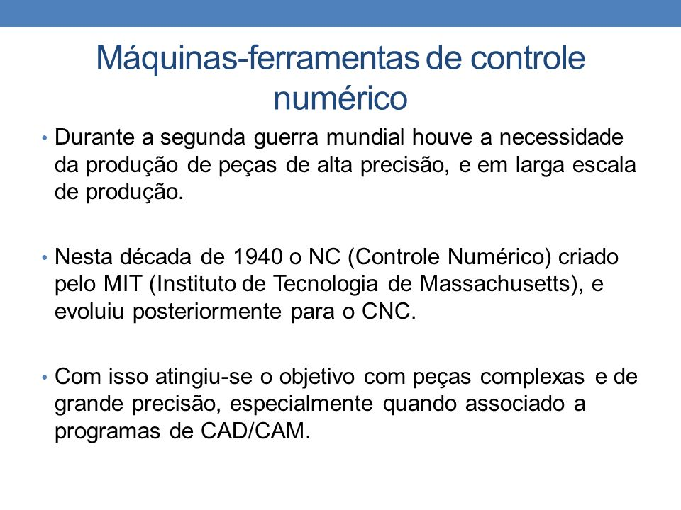 Máquinas-ferramentas de controle numérico