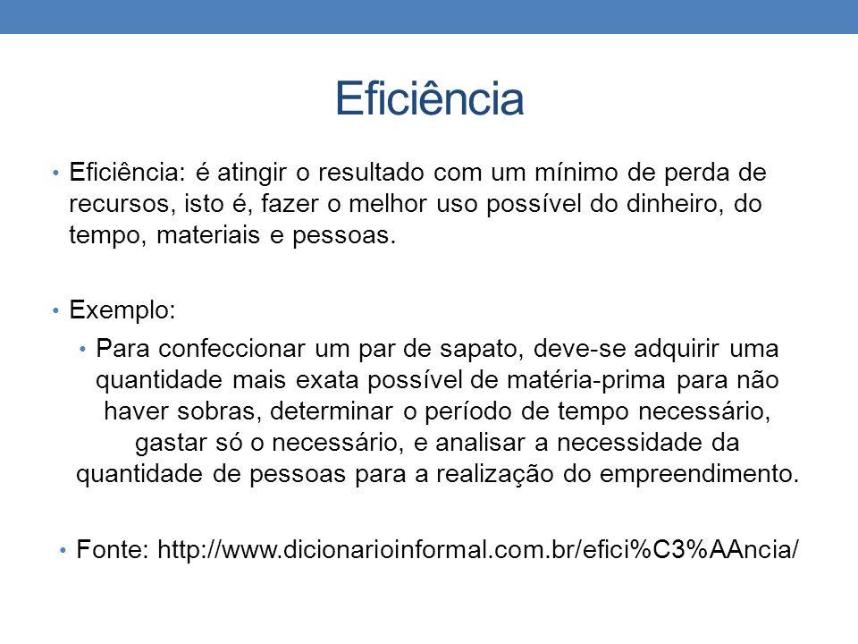 Fonte: http://www.dicionarioinformal.com.br/efici%C3%AAncia/