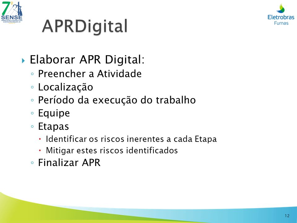 APRDigital Elaborar APR Digital: Preencher a Atividade Localização