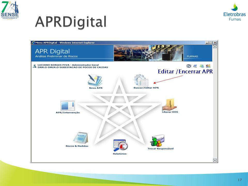 APRDigital Editar /Encerrar APR