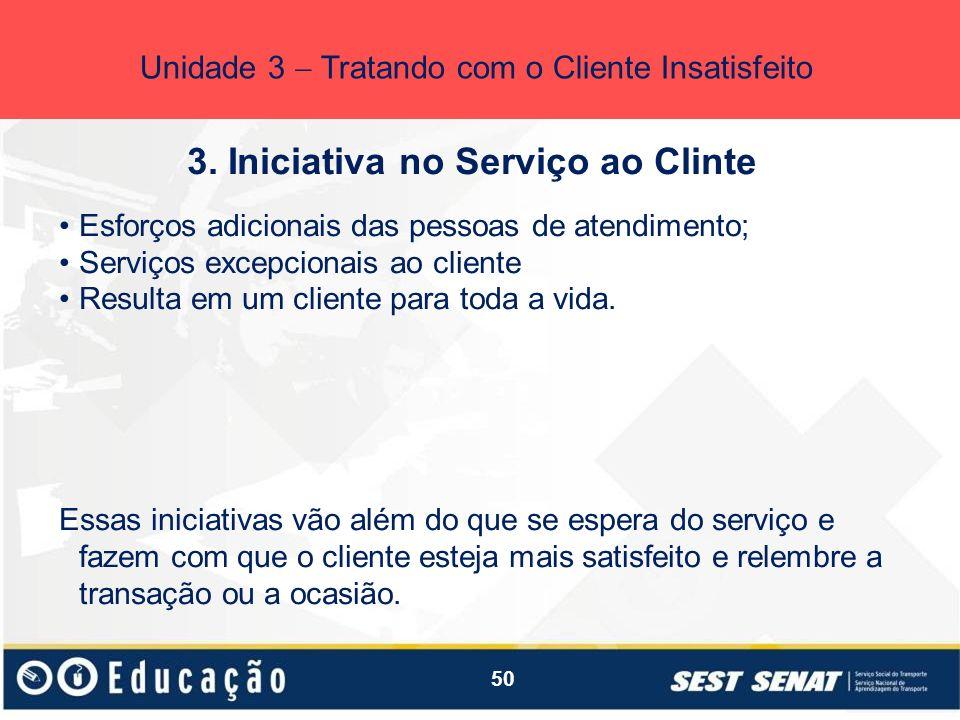 3. Iniciativa no Serviço ao Clinte