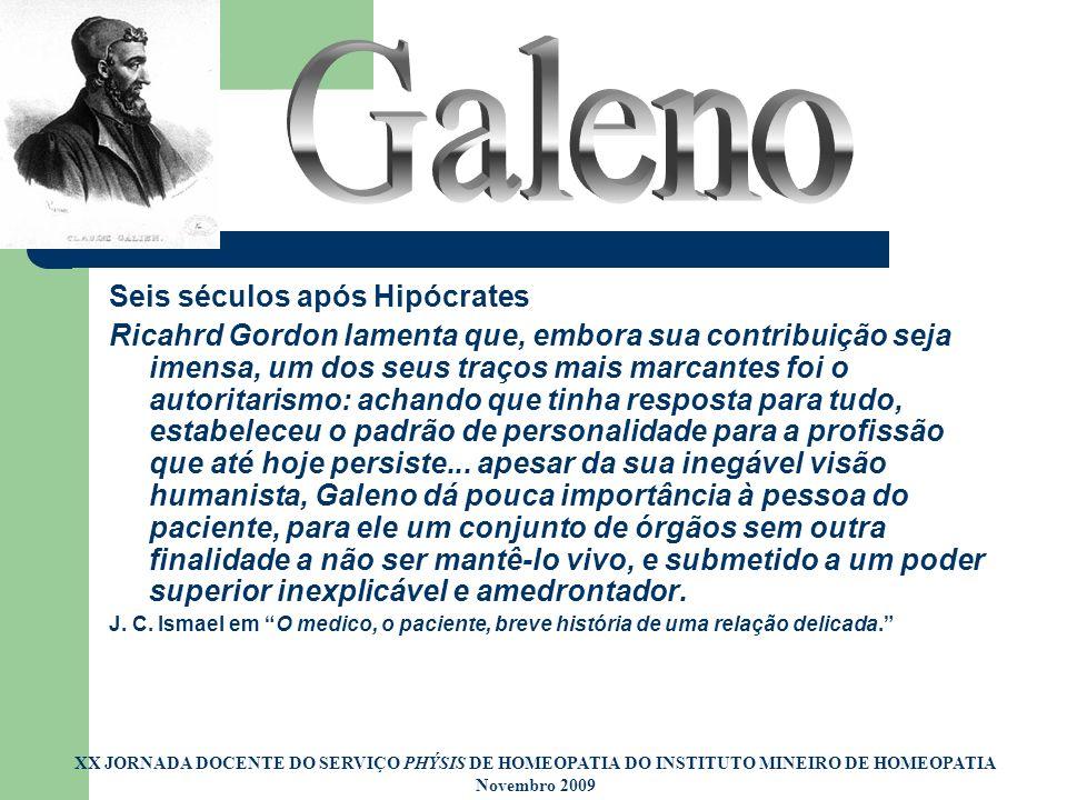 Galeno Seis séculos após Hipócrates