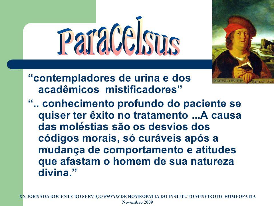 Paracelsus contempladores de urina e dos acadêmicos mistificadores