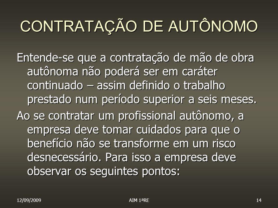 CONTRATAÇÃO DE AUTÔNOMO