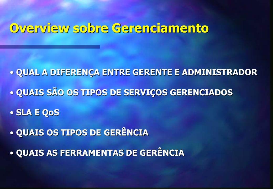 Overview sobre Gerenciamento