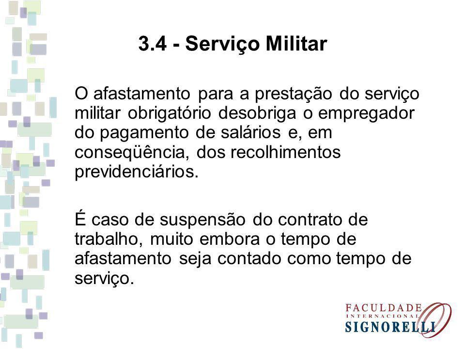 3.4 - Serviço Militar