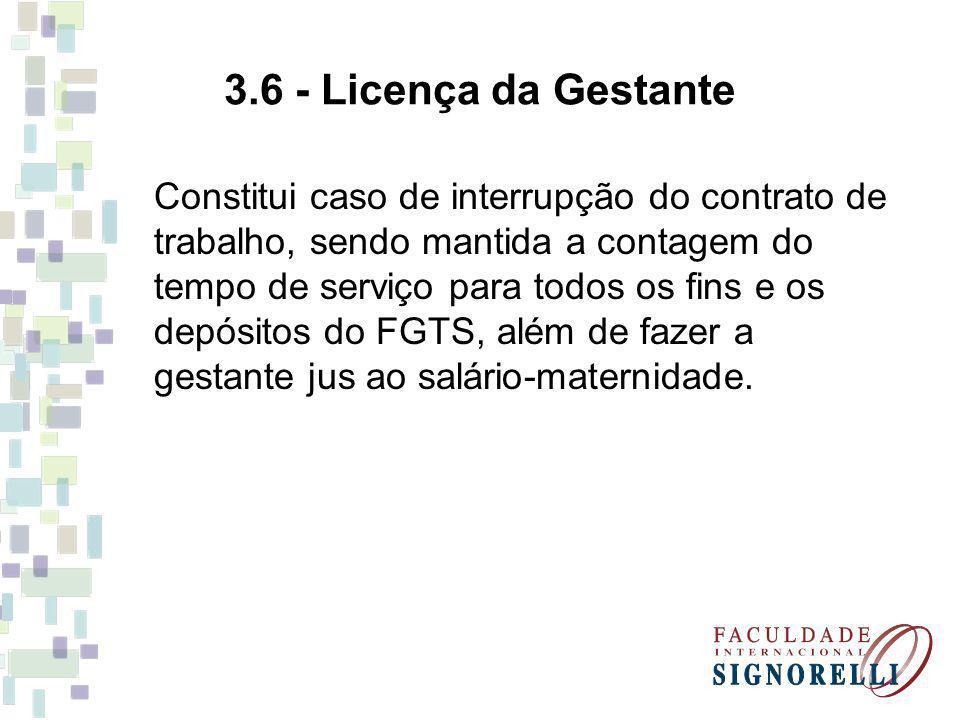 3.6 - Licença da Gestante