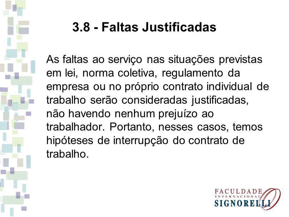3.8 - Faltas Justificadas