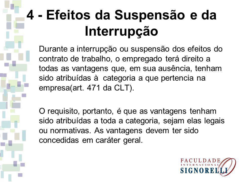 4 - Efeitos da Suspensão e da Interrupção