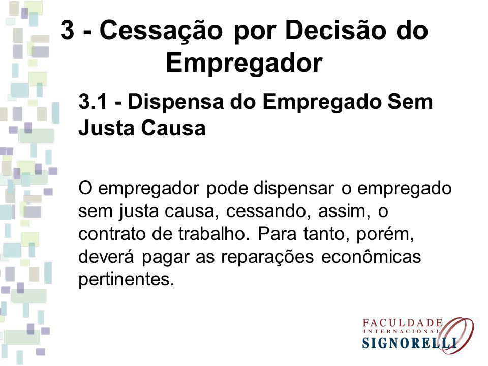 3 - Cessação por Decisão do Empregador