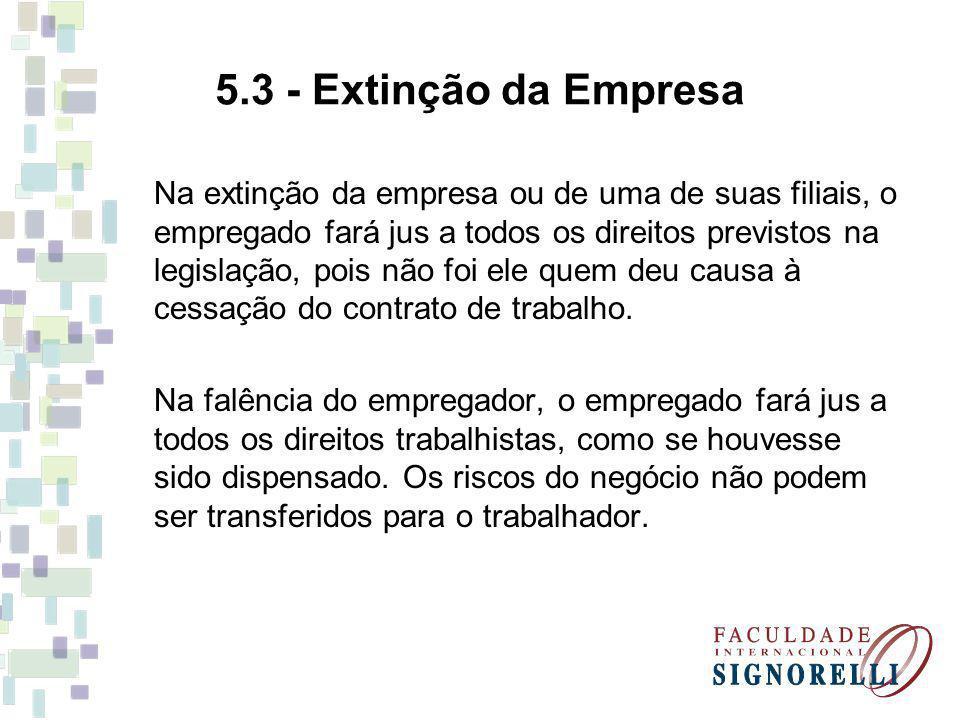 5.3 - Extinção da Empresa