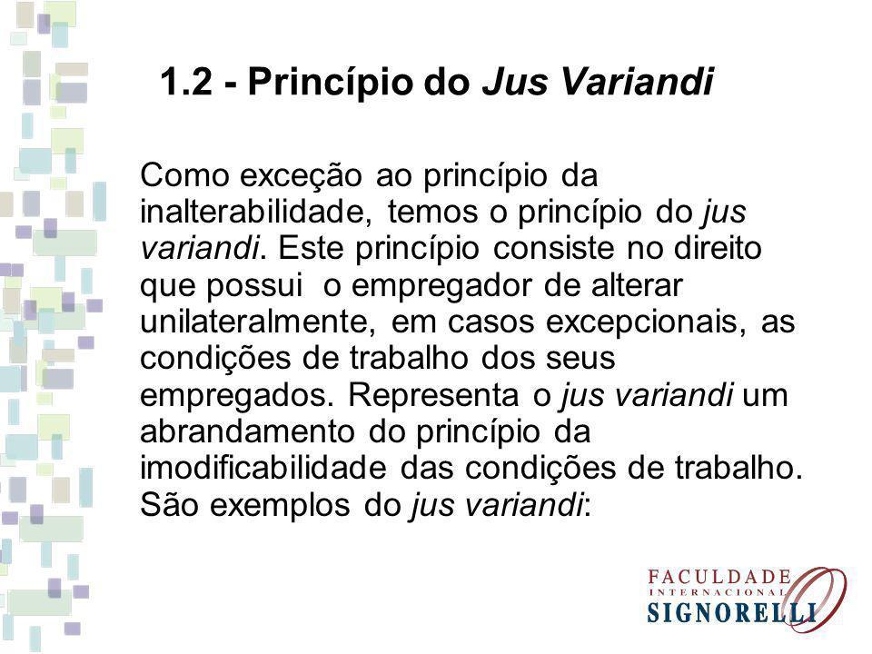 1.2 - Princípio do Jus Variandi