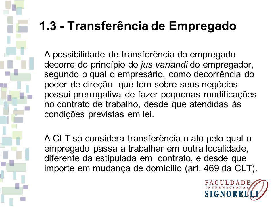 1.3 - Transferência de Empregado