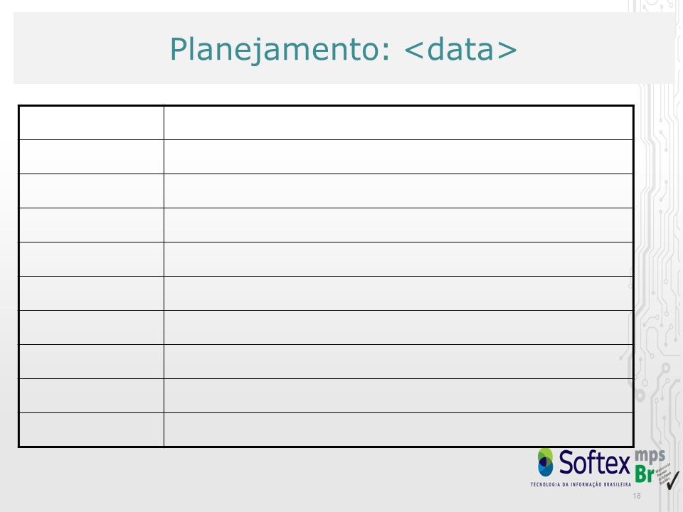 Planejamento: <data>