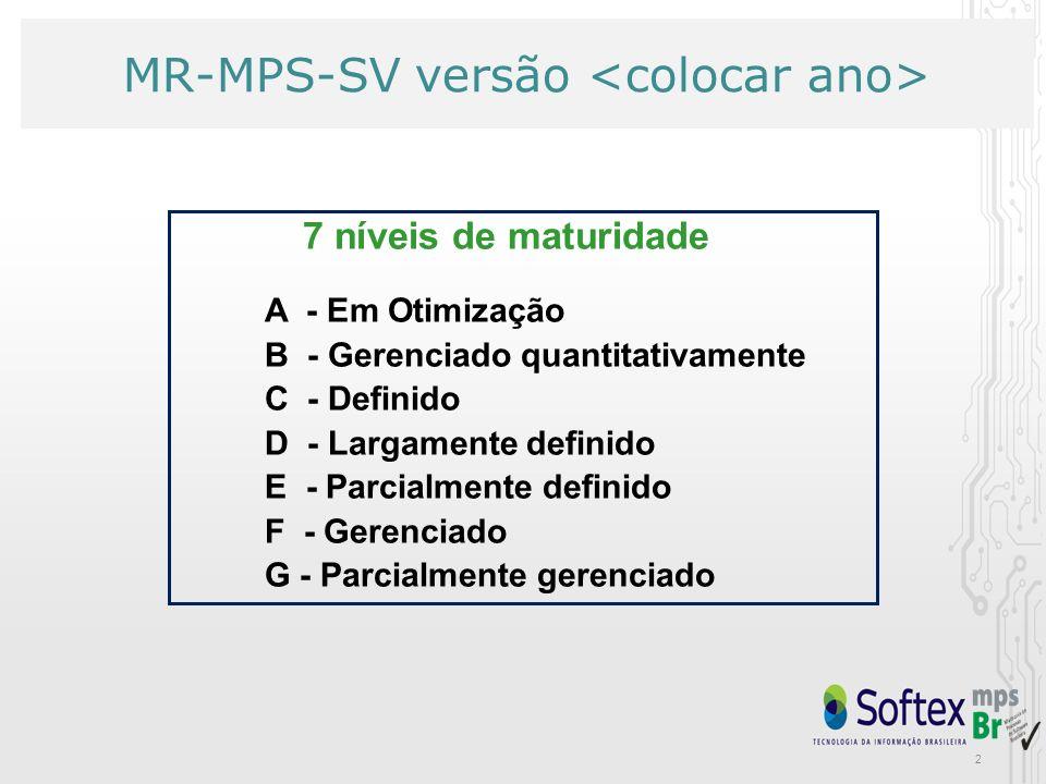 MR-MPS-SV versão <colocar ano>