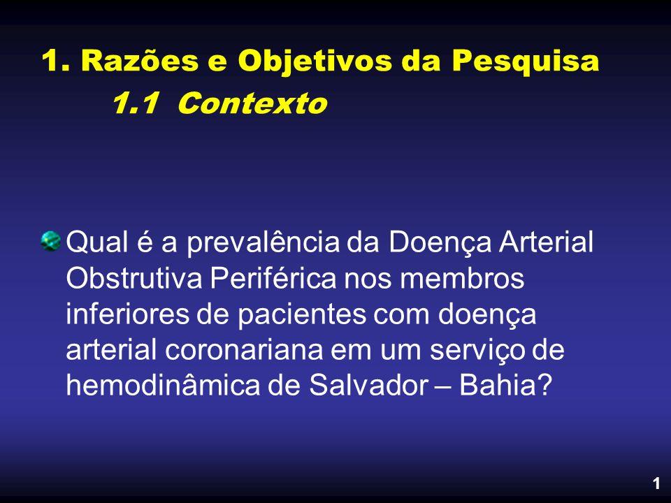 1. Razões e Objetivos da Pesquisa 1.1 Contexto