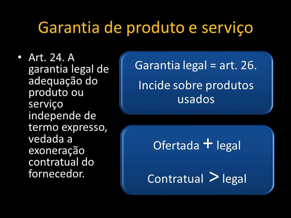 Garantia de produto e serviço