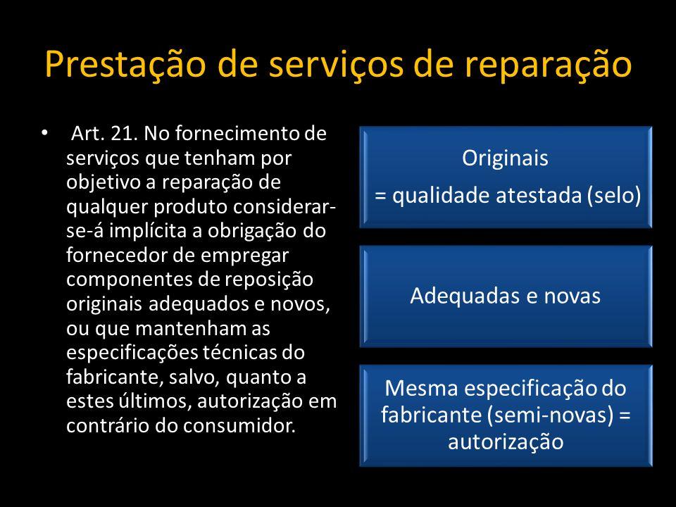 Prestação de serviços de reparação