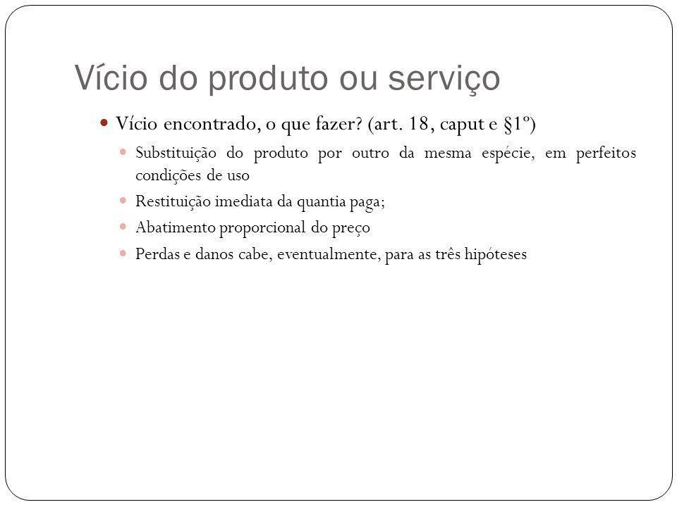 Vício do produto ou serviço