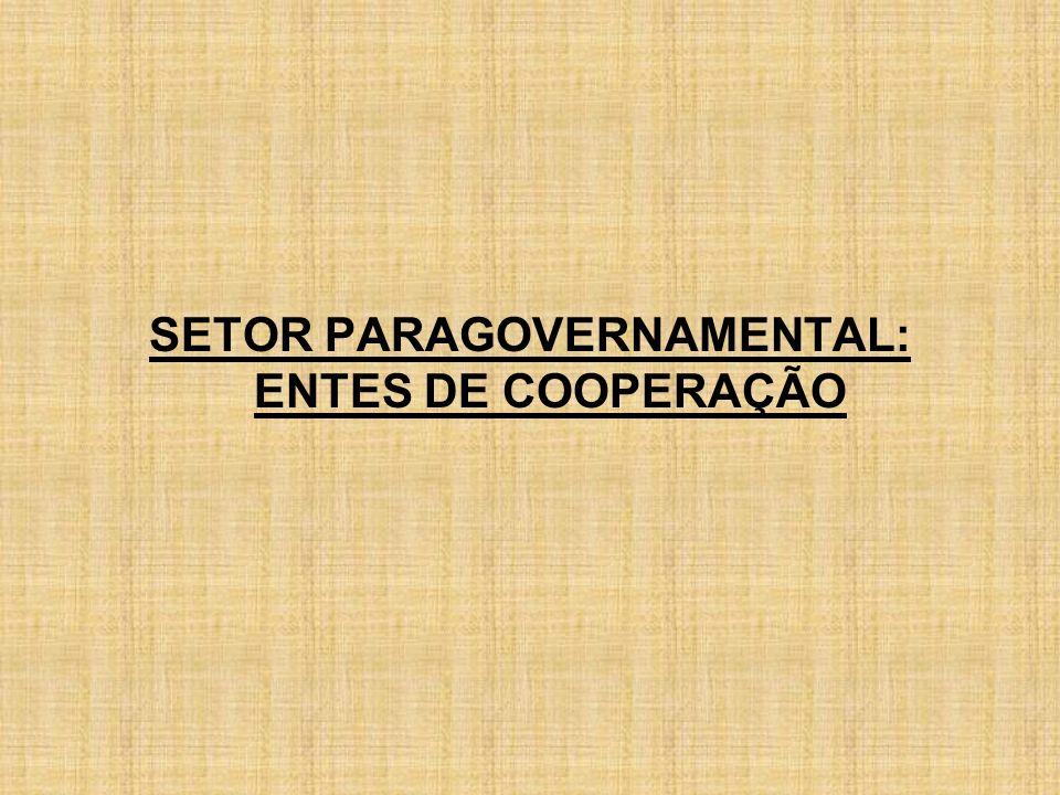 SETOR PARAGOVERNAMENTAL: ENTES DE COOPERAÇÃO
