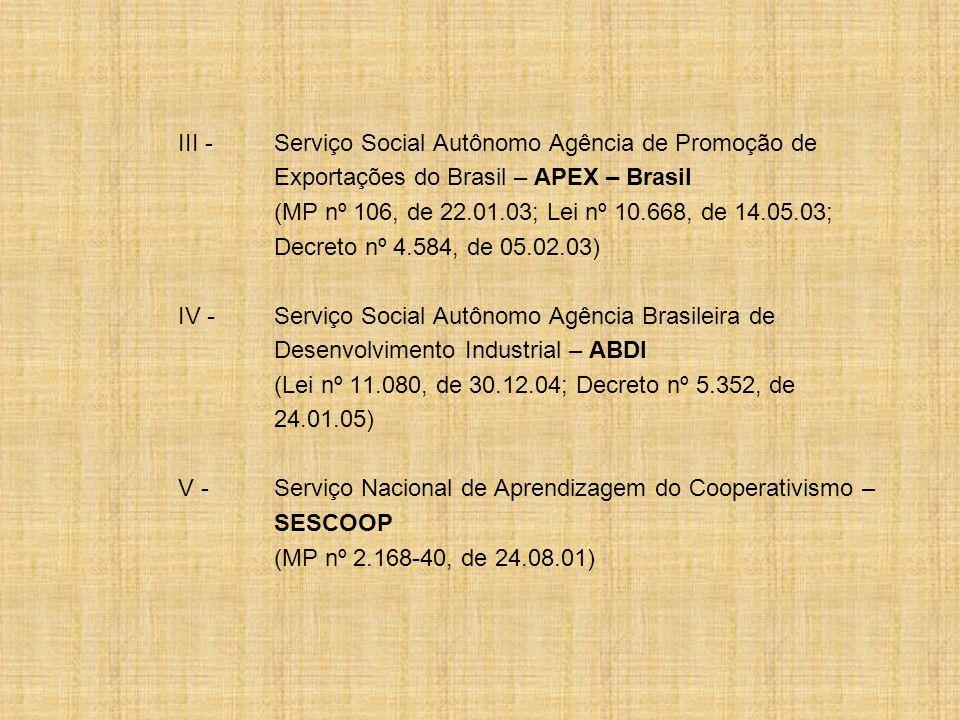 III - Serviço Social Autônomo Agência de Promoção de