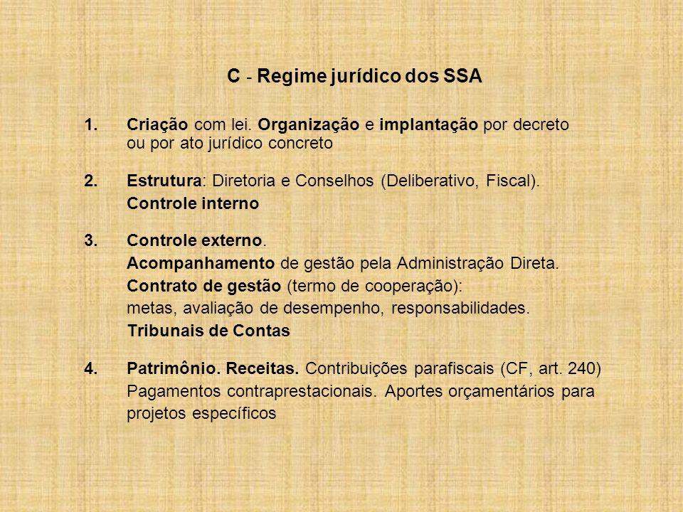 C - Regime jurídico dos SSA