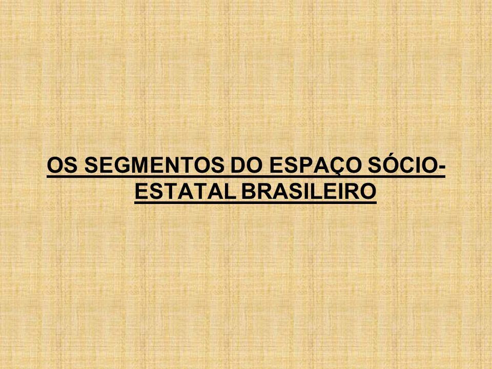 OS SEGMENTOS DO ESPAÇO SÓCIO-ESTATAL BRASILEIRO