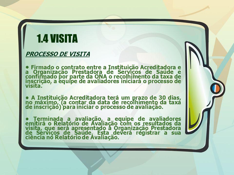 1.4 VISITA PROCESSO DE VISITA