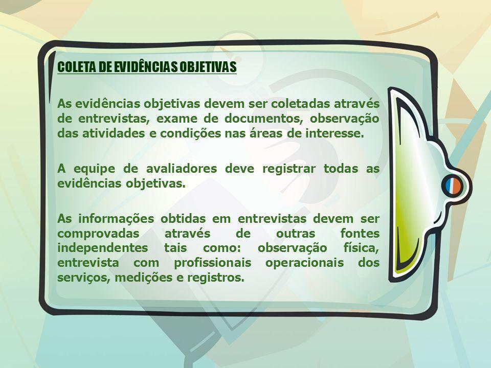 COLETA DE EVIDÊNCIAS OBJETIVAS